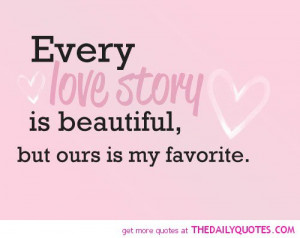 Love Stories Quotes Every love story