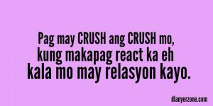 Pag may crush ang crush mo, kung makapagreact ka eh kala mo may ...