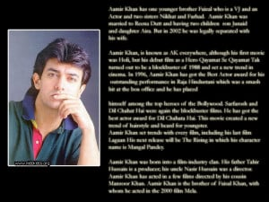 Thread: Aamir Khan biography, interesting facts, Quotes