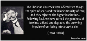 The Christian churches were offered two things: the spirit of Jesus ...