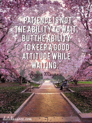 They say patience is a virtue….