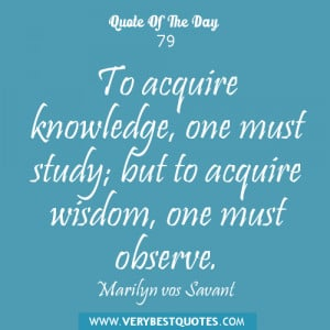 Quotes About Wisdom and Knowledge
