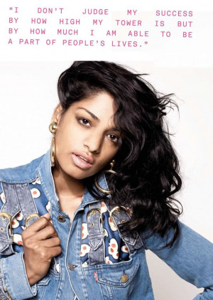 How M.I.A. judges her success. #quotes
