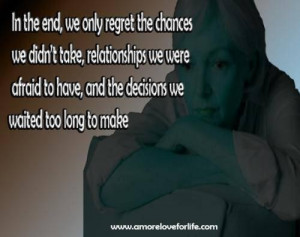 Quotes regret love lost