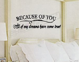 Bedroom Inspiration Wall Quotes – via