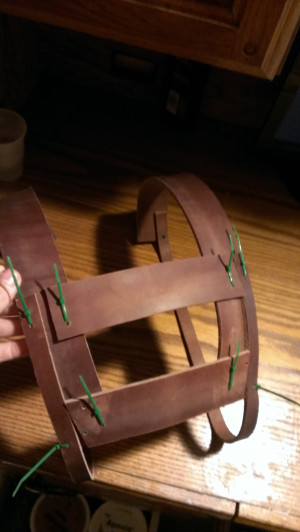 some work done putting together the base of the harness
