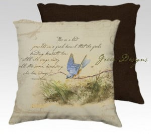 Bird on Branch Bluebird Victor Hugo Quote Velvet by greerdesign, $39 ...