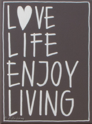 Kiz Quotes Canvas - Love Life Enjoy -