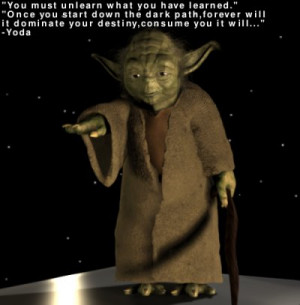 Yoda talking about proprietary software Blender models and Star Wars