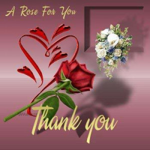 Lovely Thanking Quotes A Rose For You Thank You For Being My Friend...