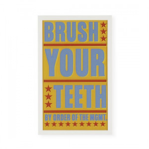 Brush Your Teeth Framed Wall Art