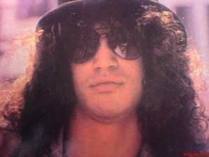 Saul Hudson: cool sunglasses, top hat and lots of hair. It's only rock ...