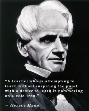 Horace Mann teacher quote