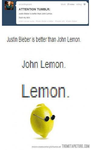 funny Lemon with Glasses John Lennon
