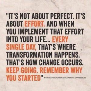 It's about effort