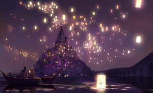... Gallery » Anime Couples » Artbooks » Rapunzel, Floating Lanterns