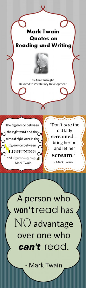 Mark Twain Quotes on Reading and Writing