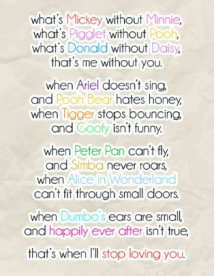 cute, disney, love, quotes, sayings, sweet