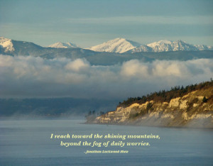 reach toward the shining mountains ,