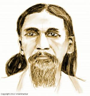 Hari's Corner - Sri Aurobindo portrait