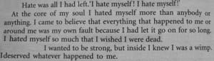 suicide cutting i hate myself