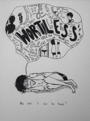 Quotes Self Harm Drawing. QuotesGram