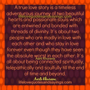 True Love Story Is A Timeless Journey..