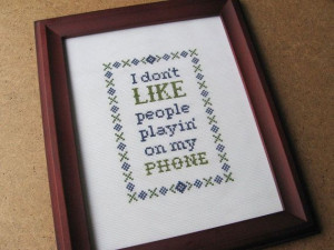Dave Chappelle's Show Quote Cross Stitch Pattern: Phone Play