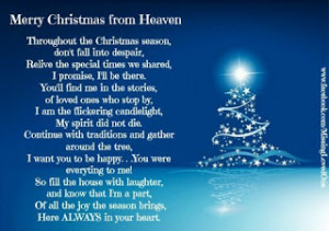 ... you can spend christmas with them merry christmas in heaven mom
