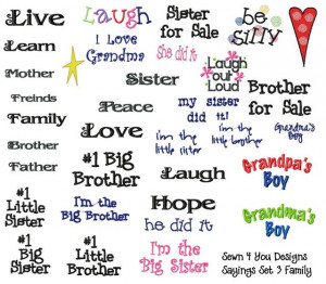 Sayings Embroidery Designs