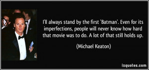 More Michael Keaton Quotes
