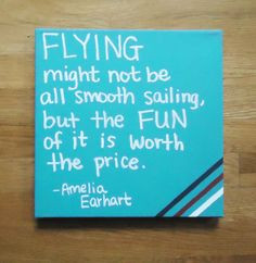 ... flying airplane quote painted on canvas can be customized any quote