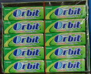 View Product Details: Orbit gum spearmint