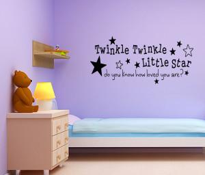... -Twinkle-Little-Star-Nursery-Wall-Sticker-Quote-Girl-Boy-Baby-Room