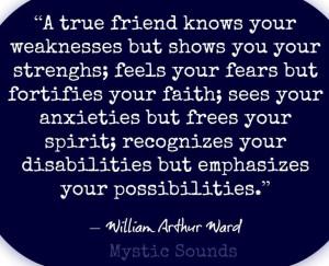 True Friendship Quotes For Facebook True friends quote via www.