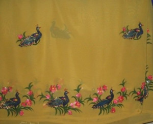 View Product Details: sarees with fabric painting