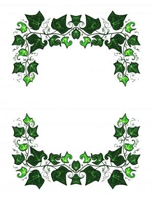 Ivy Floral Border...