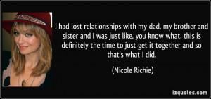 More Nicole Richie Quotes