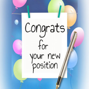 Congratulations On Your New Position Quotes Quotesgram