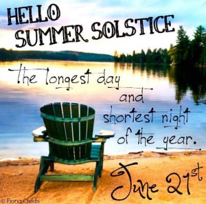 Hello Summer Solstice! via www.Facebook.com/FionaChilds