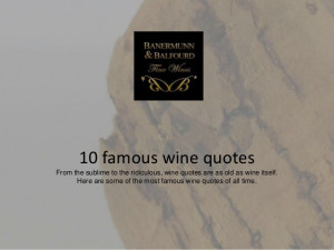 10 famous wine quotes