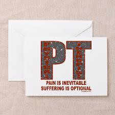 PHYSICAL THERAPIST Greeting Cards (Pk of 20) for