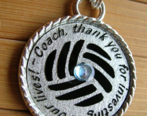 Coach pendant ...thank y ou for investing in our lives...thank you ...