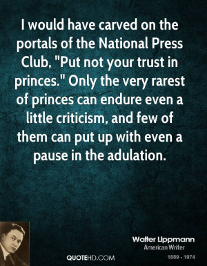 would have carved on the portals of the National Press Club,