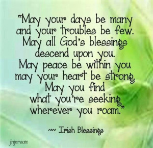 Irish blessing~