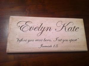 ... Boy/Girl Name Wood - Custom Words Sayings w/wo Scripture Bible Verse