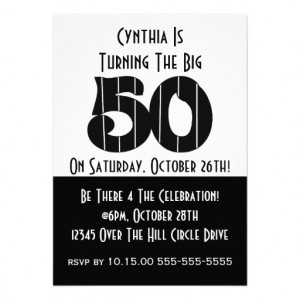 Player Over The Hill Birthday Party Invitation