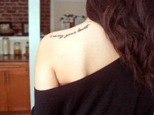Shoulder quote tattoos5144