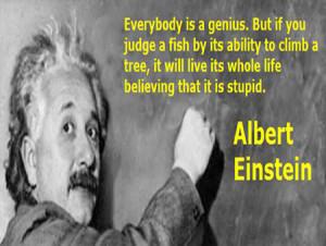 Albert Einstein on Genius