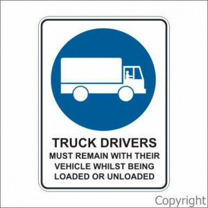 TRUCK DRIVER MUST REMAIN... - Click to enlarge
